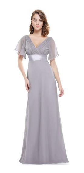 Vestido De Quince-fiesta- Egreso Gris Talle M (mod.9)