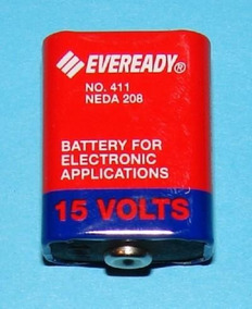 Pilha Bateria 15 Volts Evereadt 411 Neda 208 10f20 Eb-411