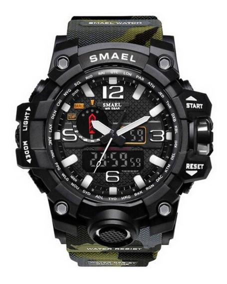Relógio Smael Shock Militar Camuflado + Brinde +frete Gratis
