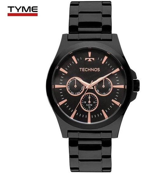 Relógio Technos Masculino Steel Preto 6p29ajl/4p - C/ Nfe