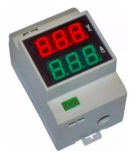 Voltimetro Amperimetro Riel Din Gralf Gf-100va Soundgroup.