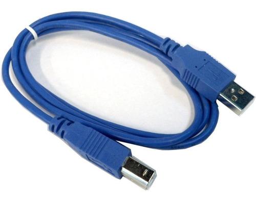 Cable Impresora A/b Usb 2.0 Mallado 1.8mts Azul