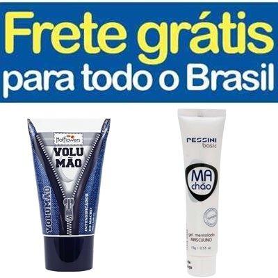 Gel Volumão Original + Gel Retardante Machão - Frete Grátis