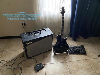 Amplificador Vox, Pedalera Boss Y Guitarra Washburn En Combo