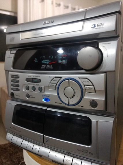 Mini System Cce Md-3260 Cassete Player Laser Disc