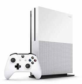 Console Xbox One S 1tb 4k Controle Wireless Cabo Hdmi Branco