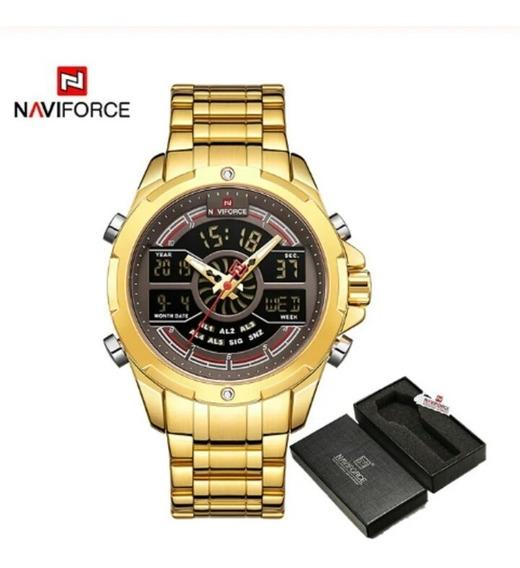 Relógio Naviforce 9170s Masculino Digital Esportivo Original