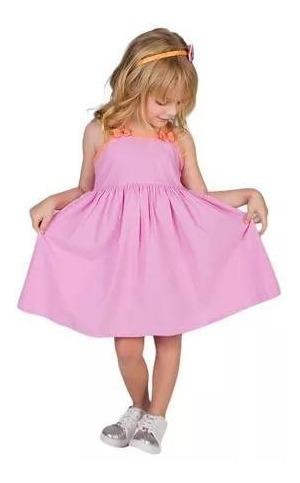 Vestido Alphabeto Abacaxi Rosa Tam 6