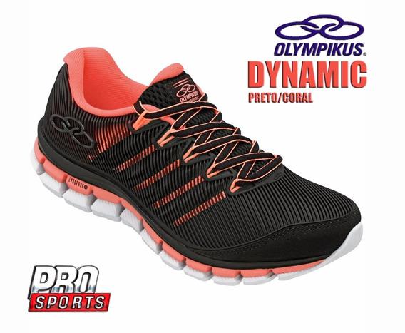 Olympikus Dynamic Preto Coral - Original - Fl