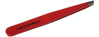 Tweezerman Slant Tip Red Enamel Tweezer