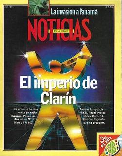 Noticias N°678_24-12-1989_el Imperio Clarín Compra Canal 13