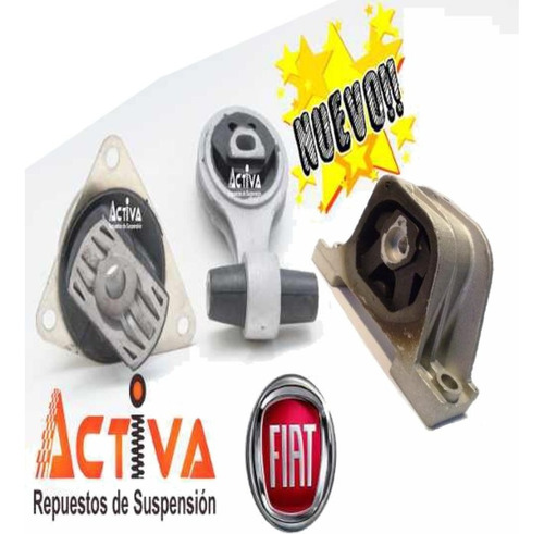 Imagen 1 de 5 de Kit 3 Soportes Motor Fiat Idea Motor 1.4 Fire Nafta