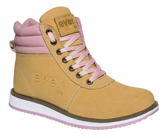 Botas De Mujer Amarillo Rosa 071-304
