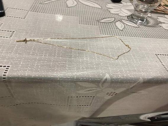 Cordão De Ouro 18k, 45cm, 2,5 Gramas (cordão+pingente).