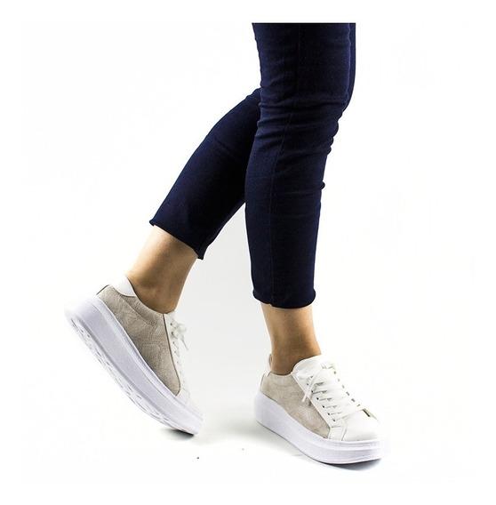 Zapatillas Urbanas Mujer Plataforma Sneakers Negras 2019