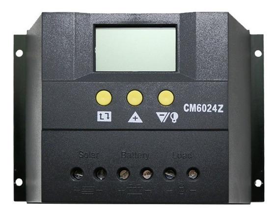 Controlador De Carga 60a - Pwm - 12v/24v - Visor Lcd