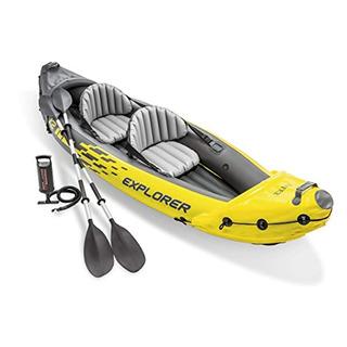 Kayak Inflable Con Remos De Aluminio