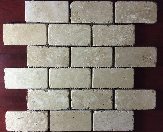 Malla Mosaico Tapete Marmol Travertino 2x4