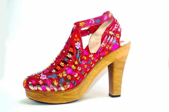 Zapatillas Artesanales De Piel Y Pintadas A Mano