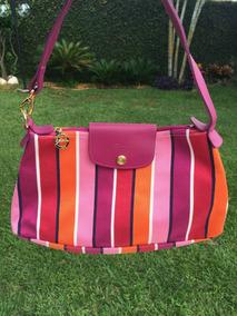 Bolsa Longchamp Rosa Listrada