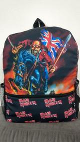 Mochila Grande Escolar Iron Maiden Banda Metal Rock Tumblr