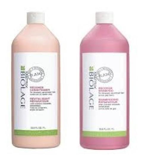 Shampoo Acondicionador Y Acondicionador Recover Raw Biolage