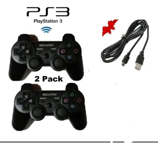 2 Controles Ps3 Inalambrico Nuevo + 1 Cable De 3 Mts