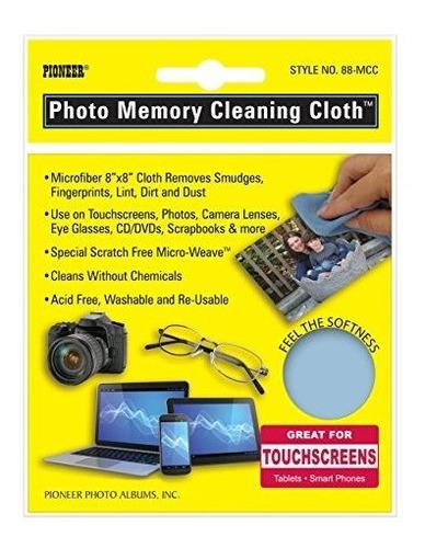 Imagen 1 de 1 de Pionero Foto Memoria De Microfibra Paño De Limpieza Azul In