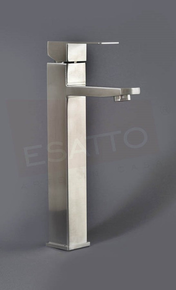 Esatto® Llave Monomando Alto Acero Inxodable Baño Gb-021