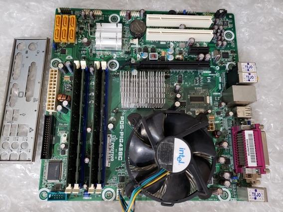 Kit Placa Positivo Pos-pig43bc Xeon X3320 2.5ghz Quad 6gb