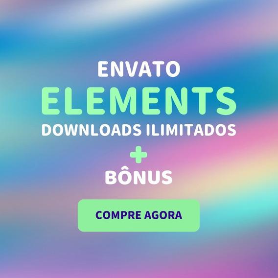 Envato Elements 1 Mês Dowloads Ilimitados Wordpress Incluso