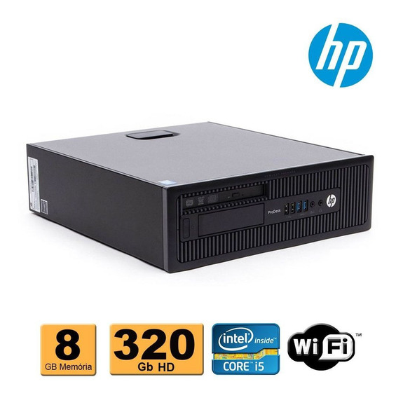 Computador Cpu Hp Slim Intel Core I5 4ªg 8gb Ddr3 320gb Wifi