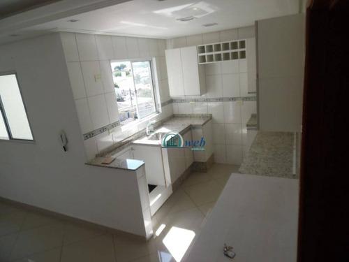 Cobertura Duplex Com 2 Dormitórios À Venda, 100 M² Por R$ 310.000 - Jardim Das Maravilhas - Santo André/sp - Co0933