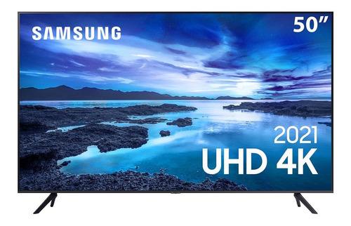 Imagem 1 de 4 de Samsung Smart Tv 50  Uhd Au7700 Crystal 4k Alexa Built In