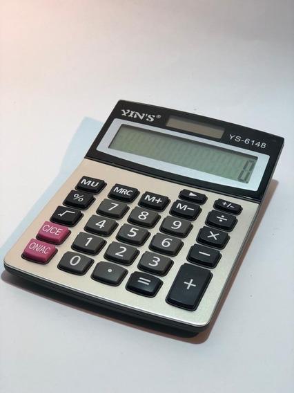 Kit 10 Calculadoras Acabamento Aço Escovado Atacado Comercio