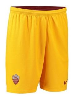 Calção Da Roma Itália Amarelo Novo Shorts Bermuda Jogador
