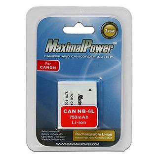 Maximal Power Db Can Nb6l Batería Repuesto Cámaras Videocáma