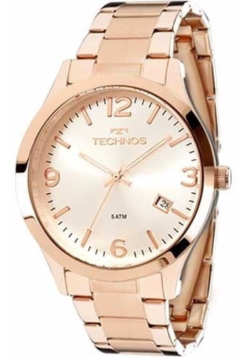 Relógio Technos Feminino Elegance 2315acj/4k Rosê Aço