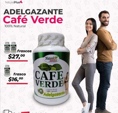 Promo X2 $27   Café Verde 500mg Adelgazar Natural Bajar Peso