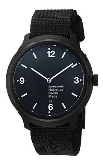 Mondaine Helvetica No1 Reloj De Pulsera (mh1.b1221.nb) Corre