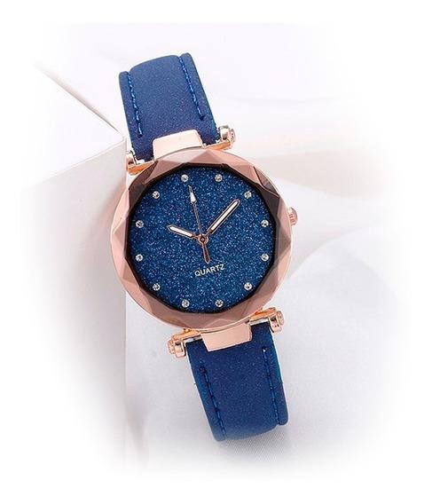 Relógio Feminino Brilhante Quartz Diversas Cores Oferta