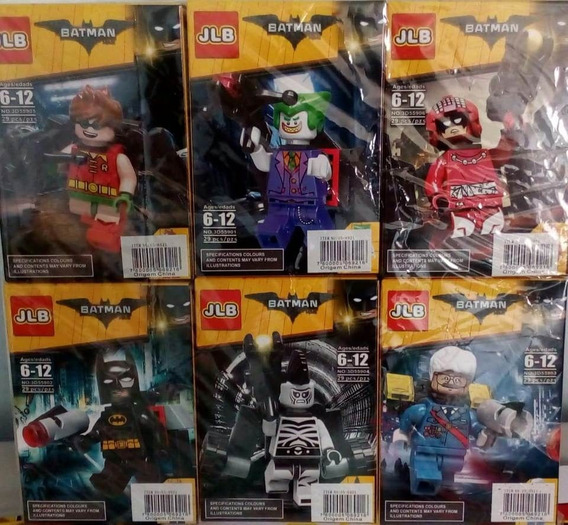 Bonecos Batman Robin Flash Coringa Compatível Lego Kit 6 Cxs