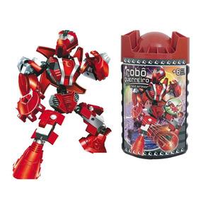 Blocos De Encaixe Robô Guerreiro Red Armor 59 Peças- Xalingo