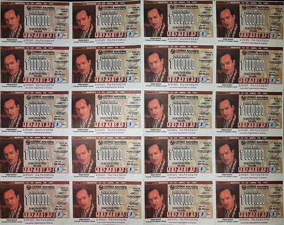 Billete De Loteria Pedro Infante 15 Abril 1997