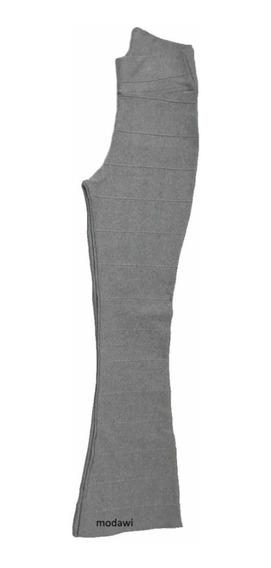 Kit Com 2 Calça De Bandagem Flare Varia Cores P M G Gg