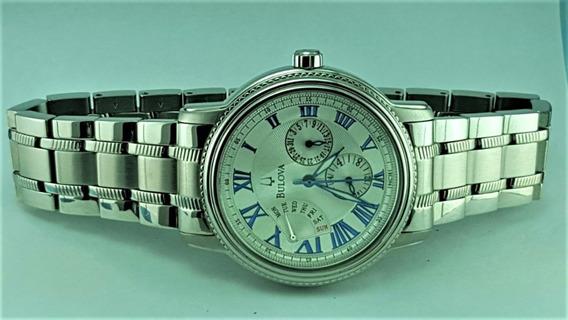 Relógio Bulova 96c38 Original, Visor Prata, 24hs/semana/dia.