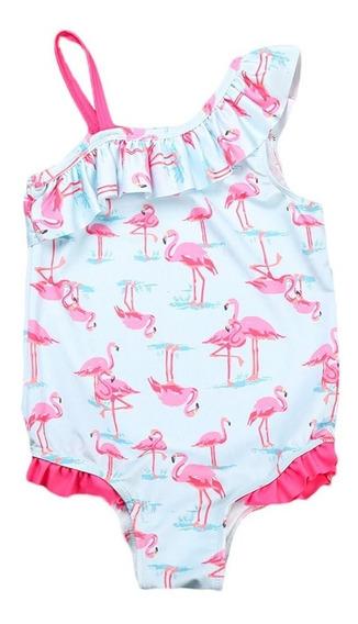 Maiô Infantil Flamingo Roupa Praia Biquini