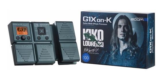 Pedaleira Efeitos Guitarra Zoom G1xon-k G1 X Kiko Loureiro
