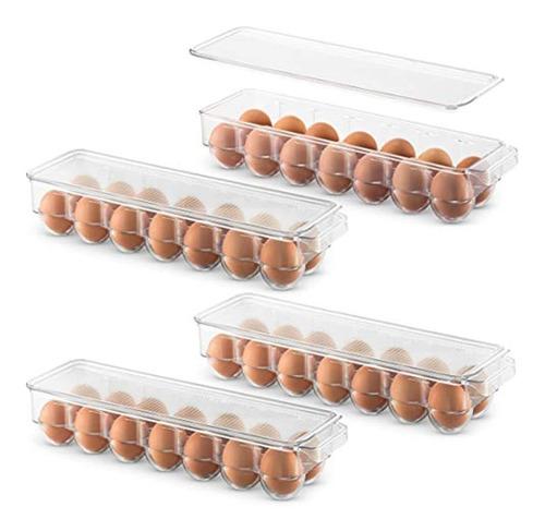 Juego De 4 Contenedores De Plástico Para Huevos