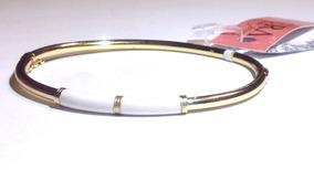 Kit Dois Braceletes Tubolar Banhado Ouro 18k